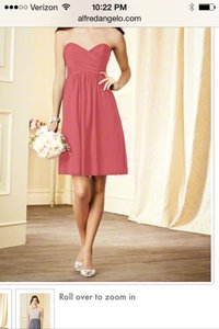 Alfred Angelo Coral Modern Bridesmaid/Mob Dress Size 6 (S)