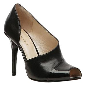 Nine West Patent Peep Toe Black Leather Pumps