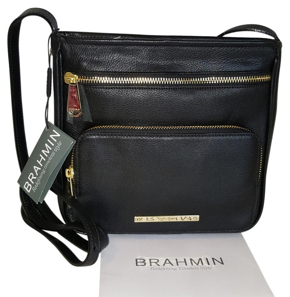 c195b0f8d661a4 Brahmin Tilda Black Nepal Leather Cross Body Bag - Tradesy