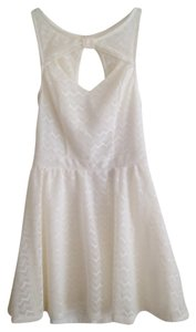 Material Girl short dress White Fit And Flare Off Cutoff Sleeveless Mini Mini Light Weight Zipper Medium on Tradesy