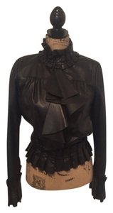 Diane von Furstenberg Blac Leather Jacket