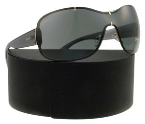 Prada Prada SPR63O ZVN-1A1 Transparent Gray Shield Womens Sunglasses