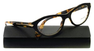 Prada Prada VPR18P NAI-1O1 Top Black Medium Havana Womens Rx Eyeglasses
