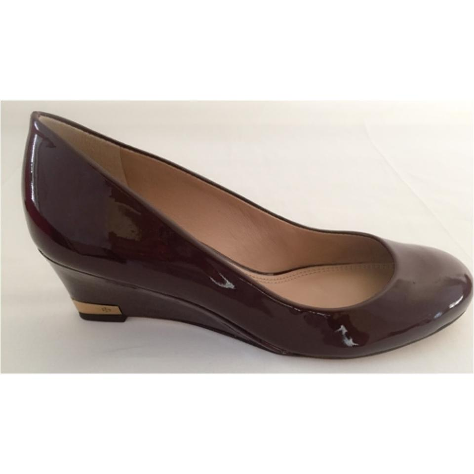 Tory Burch Astoria Patent Leather - Dark Brown Wedges on Sale, 24 ...