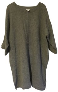 J. Jill Cotton Three Quarter Sleeve Sweater Top Gray