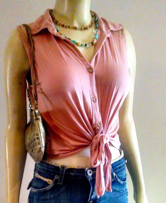 Layered with Love Size Small Pink Button Down Shirt LIGH PINK