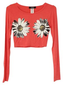 Toskana Boho Bohemian Crop T Shirt Orange