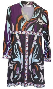Emilio Pucci short dress Gray/Violet/White/Rust on Tradesy