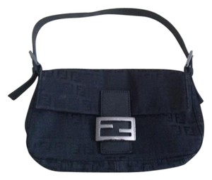 Fendi Vintage Canvas Monogram Zucchino Shoulder Bag