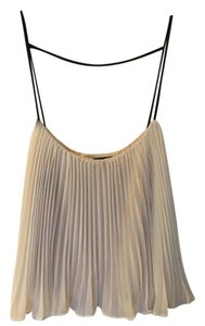 A.B.S. by Allen Schwartz Top White tank with nlack straps and neutral color lining