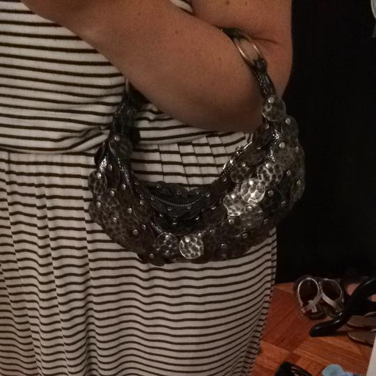 Betsey Johnson Pewter / silver Clutch