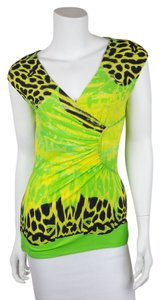 Roberto Cavalli Top Lime Green // Black // Yellow