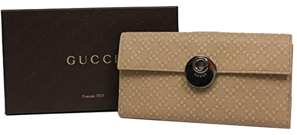 a024fceb473899 Gucci Gucci Diamante Leather Continental Flap Wallet 231835, Beige Cream  Image 0 ...