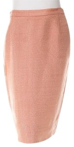 Prada Pencil Slim Back Slit Skirt Peach Pink