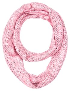 Knitted Infinity Scarf - Pink