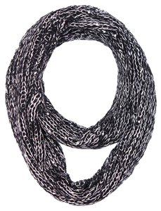 Knitted Infinity Scarf - Black