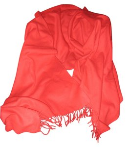 "Robert Lee Morris Red, 100% Cashmere, Double Faced, Scarf/Wrap/Shawl/Blanket (88"" X 28"")"