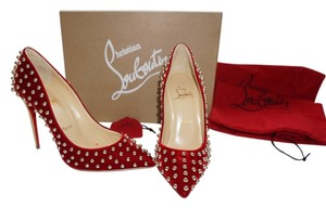 Christian Louboutin Studded Red Navy Pumps