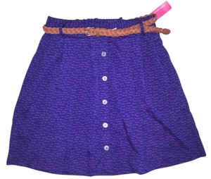 Xhilaration Mini Skirt Purpler w pink design
