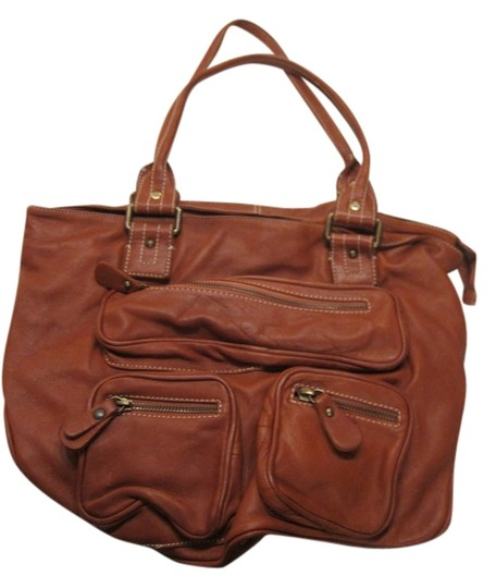 Toscani Tote in Brick Red
