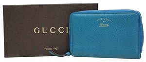 Gucci Gucci Swing Leather Zip Around Wallet 354497, Blue