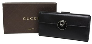 Gucci Gucci Soft Leather Continental Flap Wallet 231835, Black