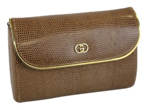 Gucci Exotic Reptile Beige Clutch