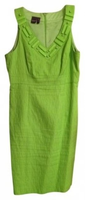 Preload https://img-static.tradesy.com/item/10015/muse-lime-green-above-knee-workoffice-dress-size-12-l-0-0-650-650.jpg