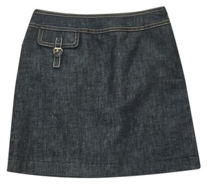 MICHAEL Michael Kors Denim Dark Denim Jean Mini Skirt Blue