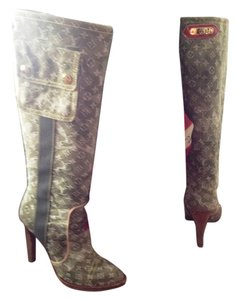 Louis Vuitton Green Camouflage Boots