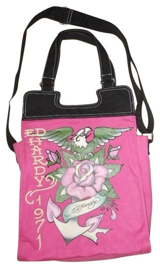 Preload https://img-static.tradesy.com/item/1001542/ed-hardy-totecross-body-pink-cotton-canvas-tote-0-0-540-540.jpg