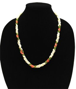3-Strand Freshwater Pearl with Faux Coral & Jade [ Roxanne Anjou Closet ]