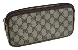 Gucci Gucci Vintage Monogram Web Coated Canvas Cosmetic Bag Small Clutch