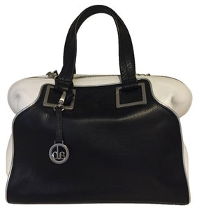 Audrey Brooke Satchel in Black and White