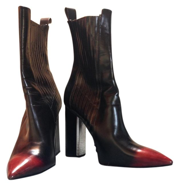 Item - Black Red Tip Italian Stiletto Ankle Boots/Booties Size US 9 Regular (M, B)