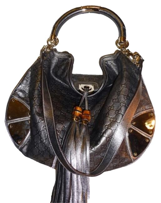 Item - Top Handle Indy ssima Large Silver Leather Hobo Bag