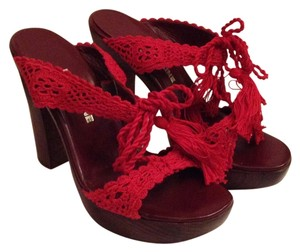 Liz Carine Red Platforms