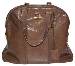 Saint Laurent Ysl Leather Muse 153959 Tote in Brown
