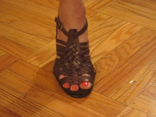 Aerosoles Leather Brown Sandals