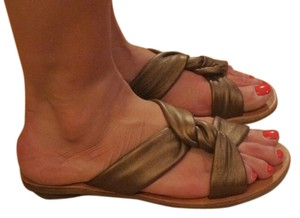 Miz Mooz Leather Copper/Brown Sandals