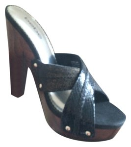 bebe BLACK - Charcoal Wedges