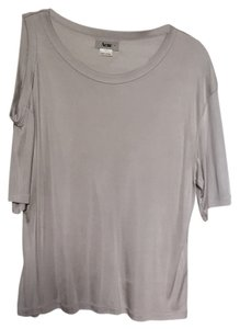 Acne Off The Shoulder T Shirt Silver