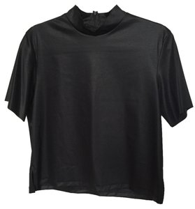 Acne Turtle Neck Casual Boxy Top Black