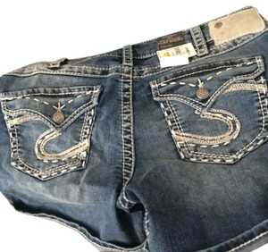 Cuffed Shorts blue jean