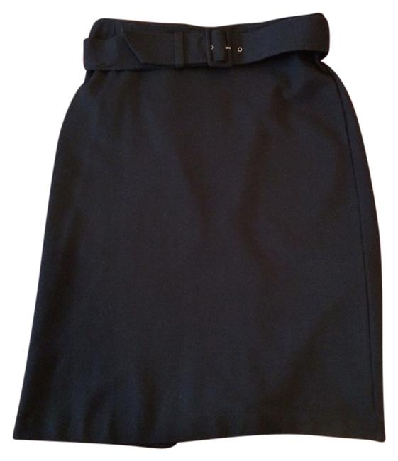 Banana Republic Pencil Careers Professional Work Br Belted Skirt Black