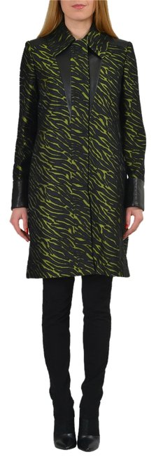 Item - Multi-color Wool Leather Trimmed Women's Basic Coat Size 4 (S)