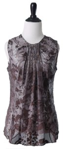 W by Worth Top Taupe Silver
