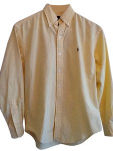 Ralph Lauren Button Down Collar Button Down Shirt Buttercup Yellow