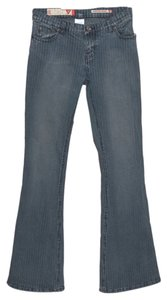 Guess Pinstripe Boot Cut Jeans-Medium Wash