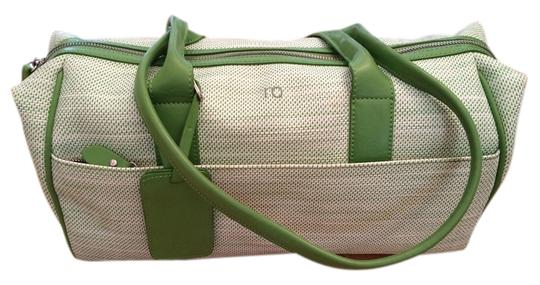 Preload https://item3.tradesy.com/images/purse-green-leather-trim-shoulder-bag-1001807-0-0.jpg?width=440&height=440